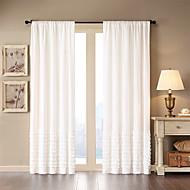Um Painel Tratamento janela Moderno , Sólido Sala de Estar Algodão Material Cortinas cortinas Decoração para casa For Janela
