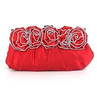Női Selyem Esküvő Estélyi táska Piros Ezüst Fekete
