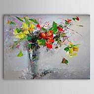 Håndmalte Blomstret/Botanisk Et Panel Lerret Hang malte oljemaleri For Hjem Dekor