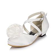 Girl's Flats Spring / Summer / Fall / Winter Comfort Satin Wedding Flat Heel Satin Flower / Flower Ivory / White