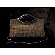 Satin with Alumium and Rhinestone Wedding /Special Occasion Evening Handbags/Clutchs(More Colors)