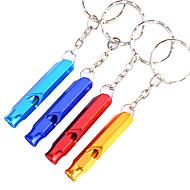 Outdoor Alloy Multi-purpose Survival Whistle(Random Color)