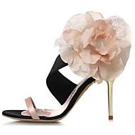 Women's Shoes Synthetic/Silk Stiletto Heel Heels Sandals Office & Career/Party & Evening/Dress Black/Green/Pink