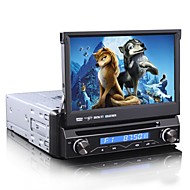 1 Din 7 polegadas Car Radio Multimedia DVD Player GPS Bluetooth Ipod TV analógica