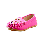 Girl's Boat Shoes Spring Summer Fall Mary Jane Leatherette Casual Flat Heel Rivet Yellow Red White