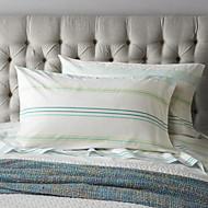 Green Stripe Sheet Set, 4 Pieces 100% Cotton