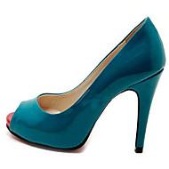 Frauen Hochzeit Rot-Goust Spitzschuh-Absatz-Schuhe
