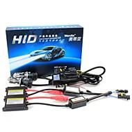 Merdia H4 55W 6000K 2800LM HID Xenon Lights with Ballasts Kit (AC 9~16V)