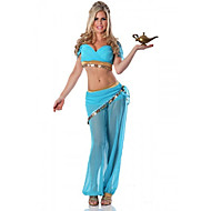 Charming Princess Jasmine Blue Polyester Women's Halloween Costume