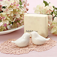 """Love Birds"" Ceramic Salt & Pepper Shakers Wedding Favor (Set of 2)"