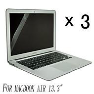 [3-pack] Hög kvalitet Invisible Shield Smudge Proof Skärmskydd till MacBook Air 13,3-tums