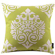 Cotton/Linen Pillow Cover , Paisley Tropical