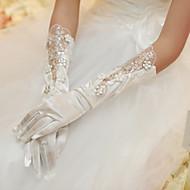 Albuelængde Handske Fingerdupper Brudehandsker/Fest-/aftenhandsker Satin