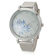 Women's Flower Pattern Steel Band Quartz Wrist Watch Cool Watches Unique Watches Fashion Watch