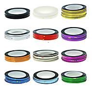 1kom Iscrtavanje Tape Line Nail Stripe Tape Nail Art dekoracija naljepnica (Izabrane boja)