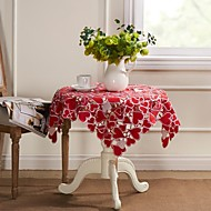Rouge Cutwork Place Broderie coeur Nappe