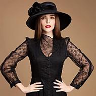 Нежные Шерсть дамы открытом воздухе / причинные / особых / потепление Шляпы с золотой бархат