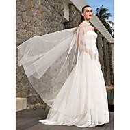 Lanting Bride A-line / Princess Petite / Plus Sizes Wedding Dress-Sweep/Brush Train Strapless Satin / Tulle