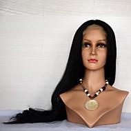 14061317 Lange Natural Wave Human Hair Pruik voor Vrouwen