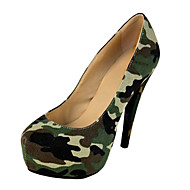 BC Camouflage Paint Women's Stiletto Heel Platform Shoes