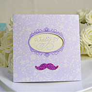 Mustache Design Side Fold Wedding Invitation Card - Set of 20/50(More Colors)