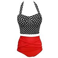 Foclassy™Women Dot High Waist Bikini Set