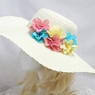 naisten merenranta aurinko hattu vaaleansininen vaaleanpunainen keltainen kukka