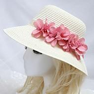 naisten merenranta aurinko hattu vaaleanpunainen kukka