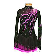 Noir Spandex patinage artistique robe de la fille (Assorted Taille)
