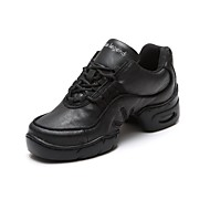 Women's Leather Cushioned Heel Dance Sneakers Dance Shoes