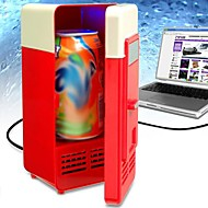 Desktop Mini USB PC Laptop Fridge Freezer Beverage Drink Cans Refrigerator(Random Color)