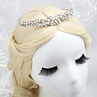 Women's/Flower Girl's Alloy/Imitation Pearl/Cubic Zirconia Headpiece - Wedding/Special Occasion Tiaras