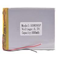 """Universal Udskiftning 3.7V 5000mAh Li-polymer Batteri til 7 ~ 10 """"Macbook Samsung Acer Sony Apple Tablet PC (05 * 80 * 95)"""