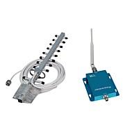 62 dB 2100MHz Cell Phone Signal Booster / Repeater / forstærker med Whip og Yagi Antenner