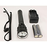 3 Cree XM-L U2 4000 Lumens Underwater 100m LED Diving Flashlight with 2pcs 18650 and Dual Charger
