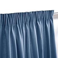 (One Panel Rod Pocket) Modern Minimalist Navy Blue Solid Blackout Curtain