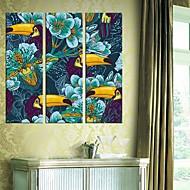 Lona estirada Pájaros del arte y de las flores Juego de 3