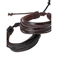 personlighed vævet læder armbånd smykker