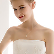 Amazing Sterling Silver With Imitation Pearl Wedding Bridal Jewelry Set(Including Necklace,Earrings)