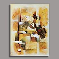 Håndmalede abstrakt oliemaleri med strakte ramme Klar til Hang
