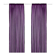 (Un panel del bolsillo de Rod) Minimalista Purple Solid Energy Saving Cortina