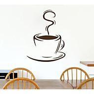 קיר מדבקת קיר דפוס כוס קפה jiubai ™ מדבקה, 60cm * 44cm