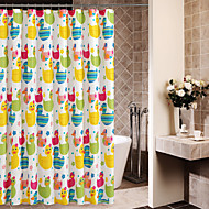 Colorful Cute Cartoon Ducks Shower Curtain