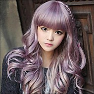 Ιαπωνικά Harajuku zippe Mix Purple Lolita Κόμματος Cosplay Wig Gradient Σγουρό