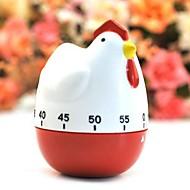 """漫画の鶏の形の機械的なキッチンタイマー、プラスチック3.04 """"x2.32"""" x3.04 """""""