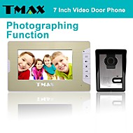 """TMAX® 7"""" LCD Photographing Video Door Phone Doorbell Home Entry Intercom with 500TVL Night Vision Camera"""