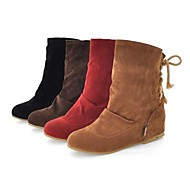 Suede Women's Flat Heel Ankle Boots (More Colors)