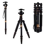 q666c draagbare koolstofvezel statief monopod en balhoofd voor dslr camera