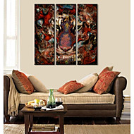 Stretched Canvas Art Abstract Decorative Painting Lion Set of 3