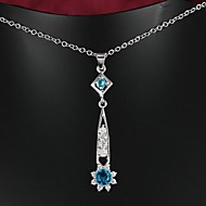 Fabulous Brass Silver Plated With AAAA Zircon Women's Necklace